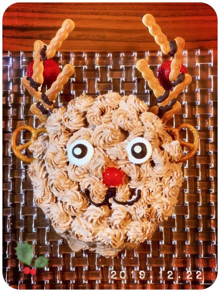 手作り クリスマスケーキ トナカイ