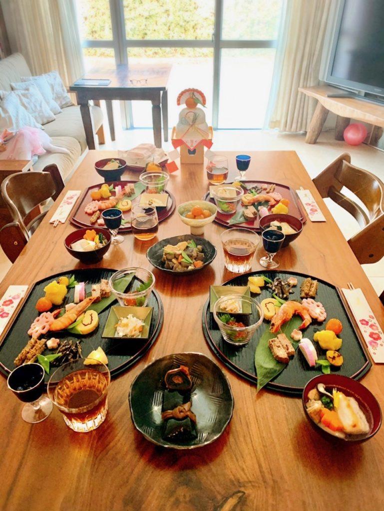 おせち料理、半月盆、ひとり盛り、盛り付け